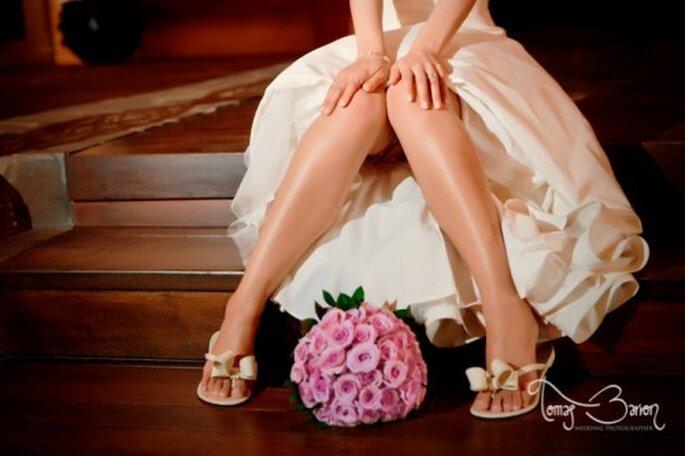 Ramo de novia 2013 de un solo color - Foto Tomas Barron