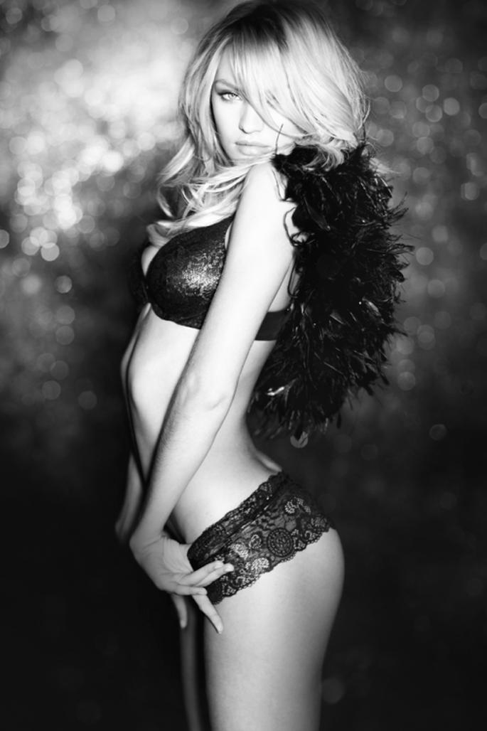 Utiliza lencería en color negro para tu boda - Foto Victoria's Secret