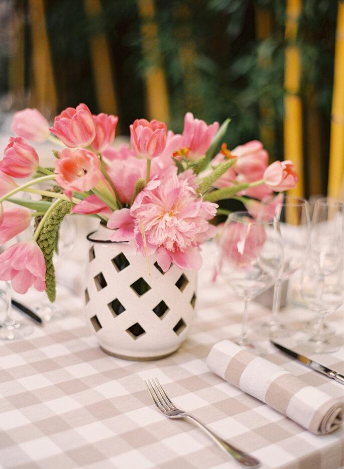 decoración con tulipanes - Jessica Burke
