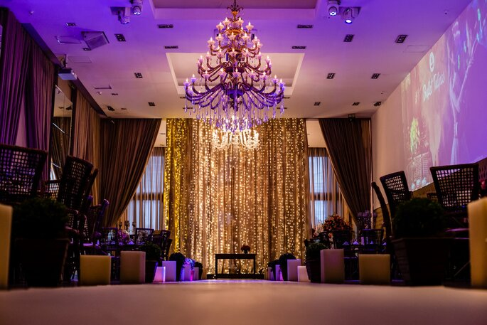 Cortina de luzes na decoração