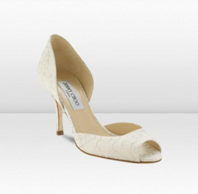 Zapato de novia de tacón bajo - Jimmy Choo