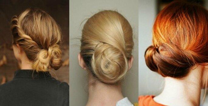 Peinado recogido para ir a la boda. Foto Dries Van Noten fall 2011/2012 Fashion week
