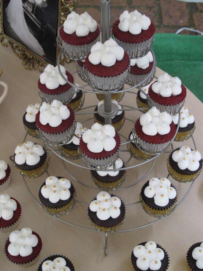 Cupcakes para boda con los sabores más especiales. Foto: O-Cake American Bakery
