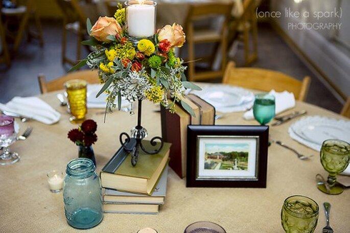 Pour votre décoration de mariage, mélangez les styles et laissez libre cours à votre imagination - Photo : Once like a Spark