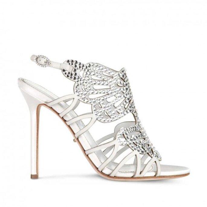 Zapatos de novia abiertos lleno de diamantes - Foto Sergio Rossi