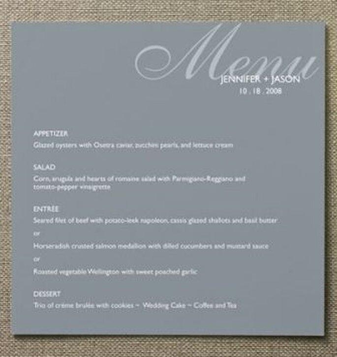 Menú para la mesa de tus invitados