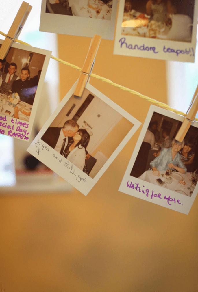 Fotos de recuerdo con mensajes de los invitados - Foto Haywood Jones Photography