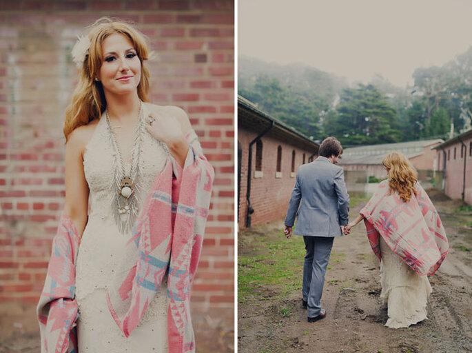 Leger und romantisch – Hippie Hochzeiten – Foto: Green Wedding Shoes