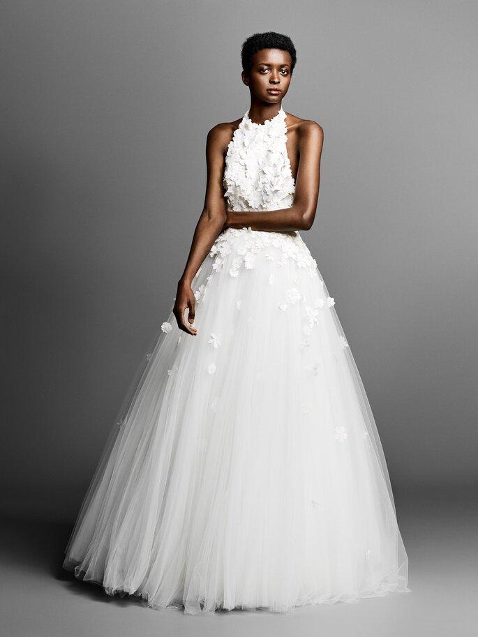 Vestido de novia cuello halter