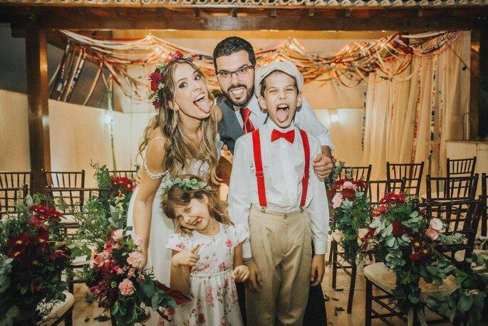 noivos com filhos