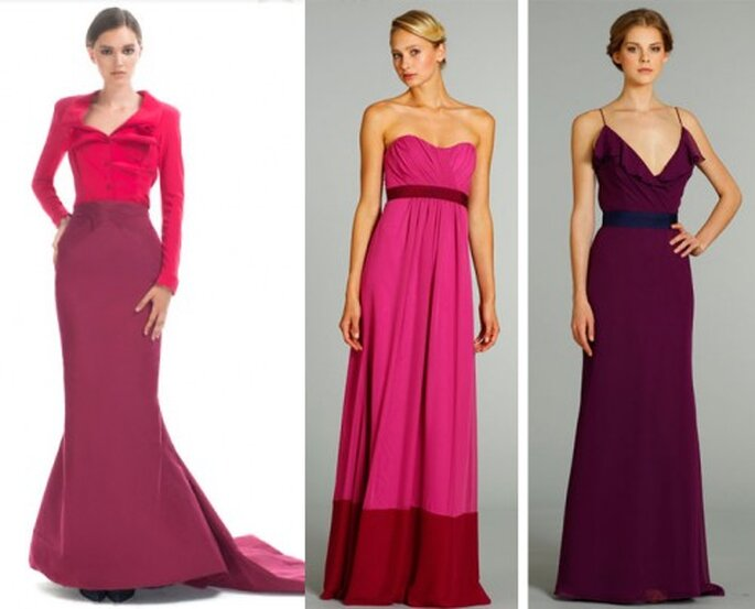 Vestidos de gala en tonos bicolor de moda en 2012 - Foto Moda Operandi