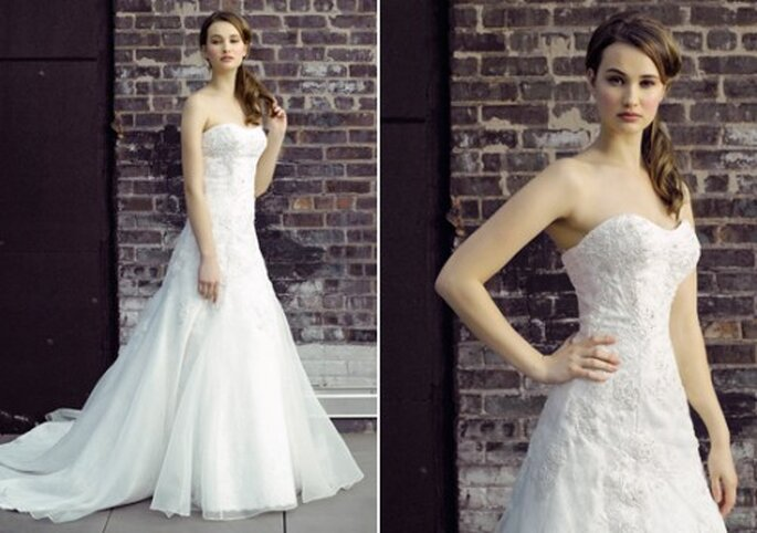 Vestido de novia strapless semirecto - Foto Henry Roth, Polkadot Bride
