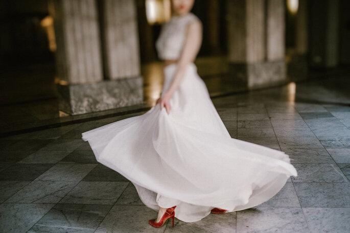 Noiva de sapato vermelho - Foto: True Romance