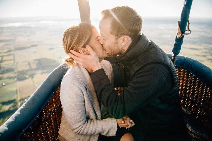 Propuesta de matrimonio original en globo aerostático