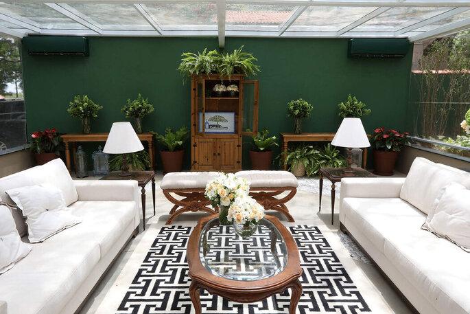 decoração floral lounge