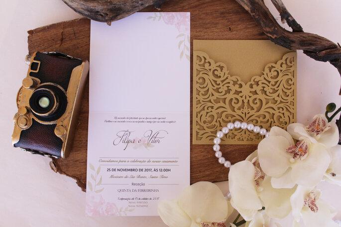 Elegante und edle Hochzeitspapeterie in Gold