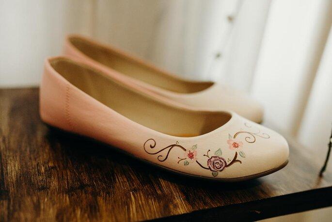 Sapatilha personalizada para casamentos