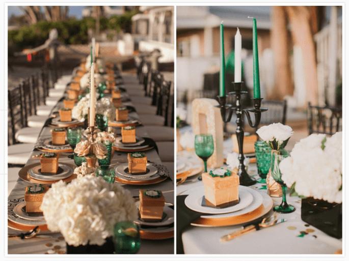 Decoración de mesas de boda inspirada en la Navidad - Foto Studio 222 Photography