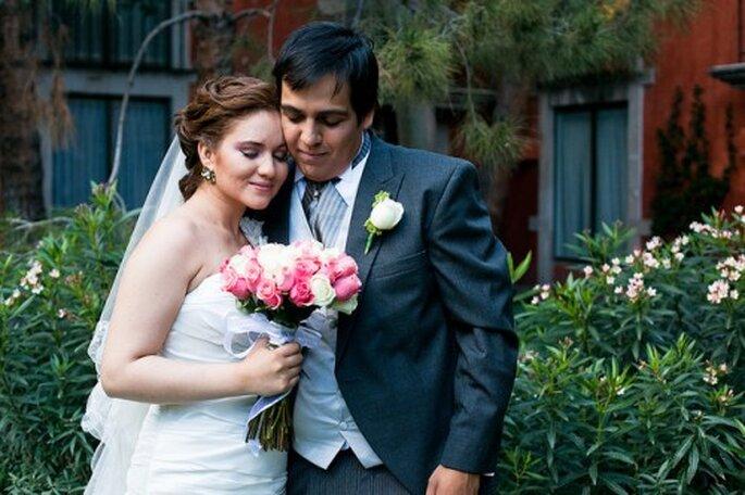 Ramo de novia con rosas. Fotografía Evgenia Kostiaeva
