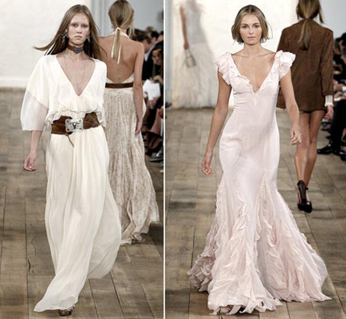 Vestidos de novia con escote en V. Foto Styledotcom