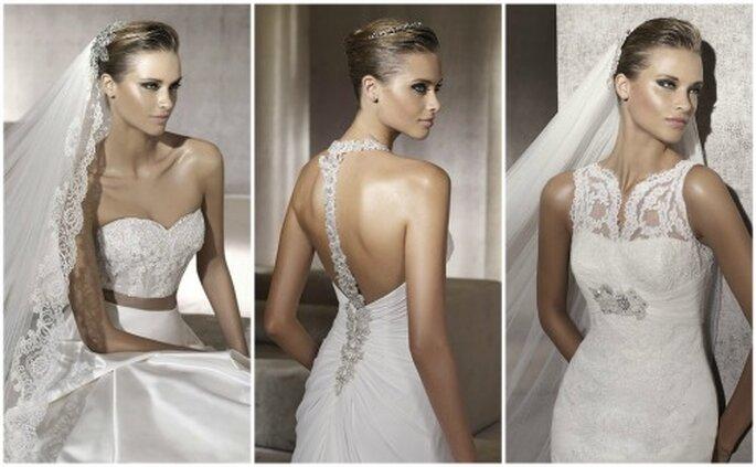 Vestidos de novias Pronovias 2012. Tres de los modelos de moda para la ...