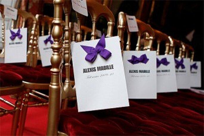 Decoración para las sillas del salón de tu boda