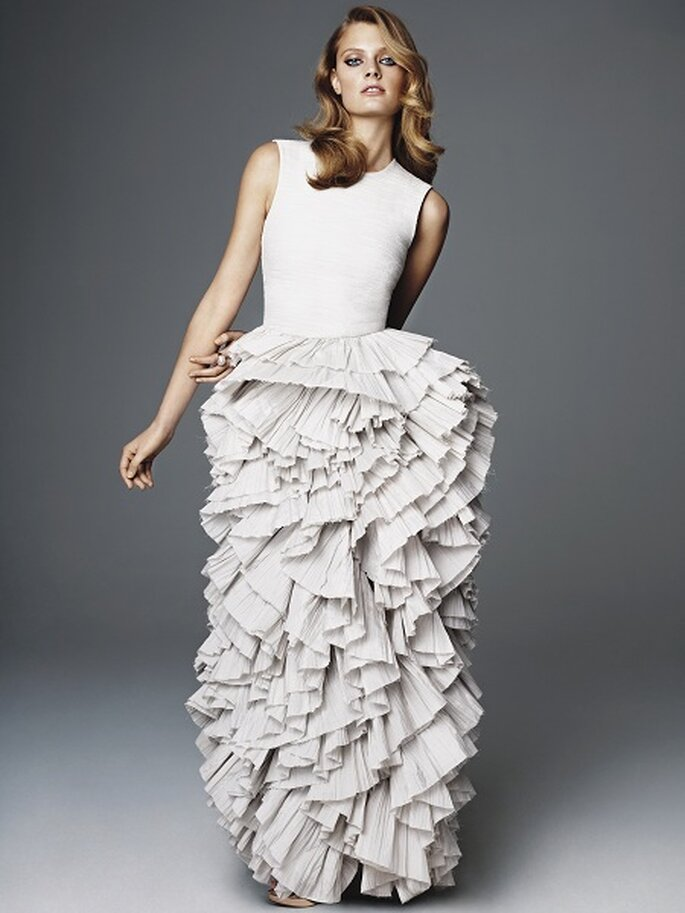 Este diseño podría convertirse en un vestido de novia. Foto: H&M