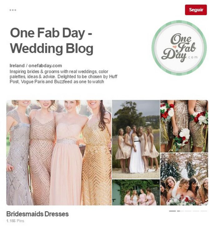 One Fab Day - Wedding Blog. Foto: Pinterest