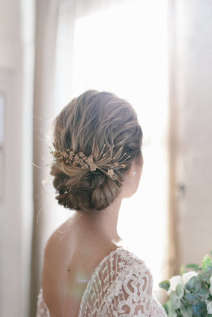 Acessório para o penteado da noiva