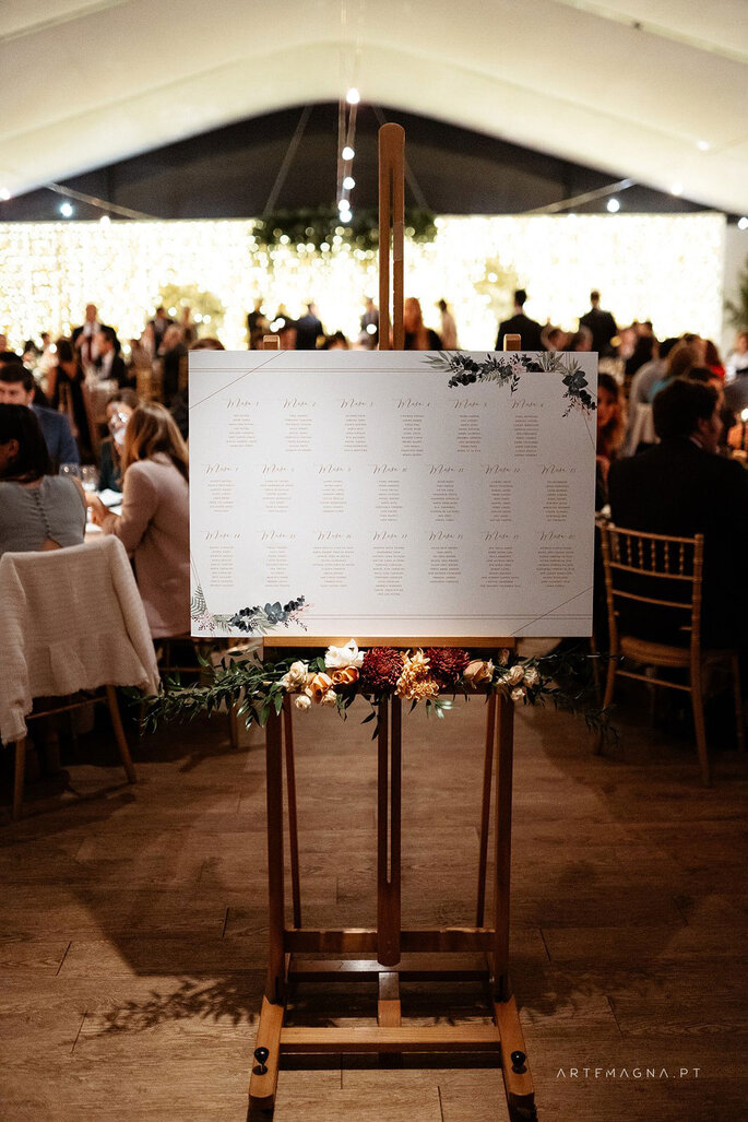 Seating plan casamento