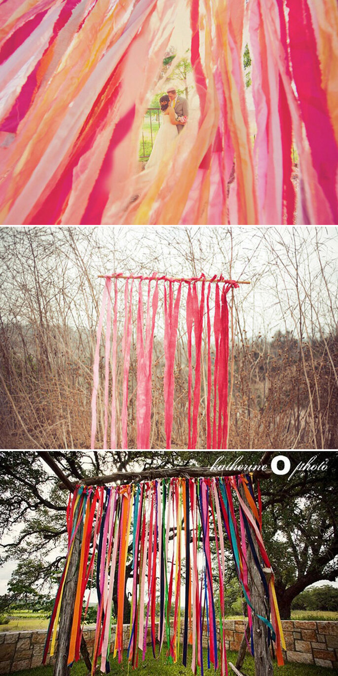 Paper decorations for your wedding - Photo: W. Scott Chester, Katherine Elizabeth Photography & Katherine O'Brien