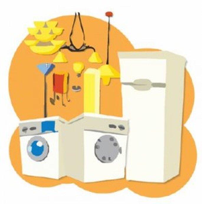 en tu mesa de regalos todos los utensilios de cocina, por ejemplo