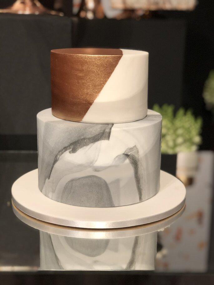 bolo de casamento marmorizado