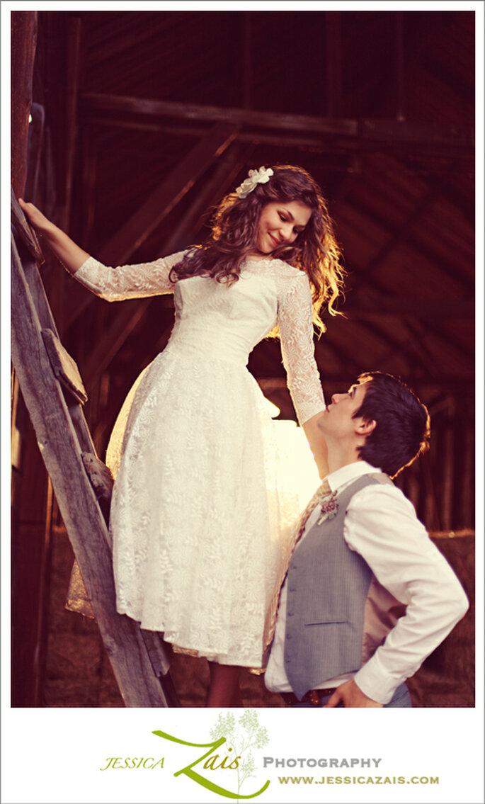 Vestido de novia como Natalie Portman. Foto de Jessica Zais Photography
