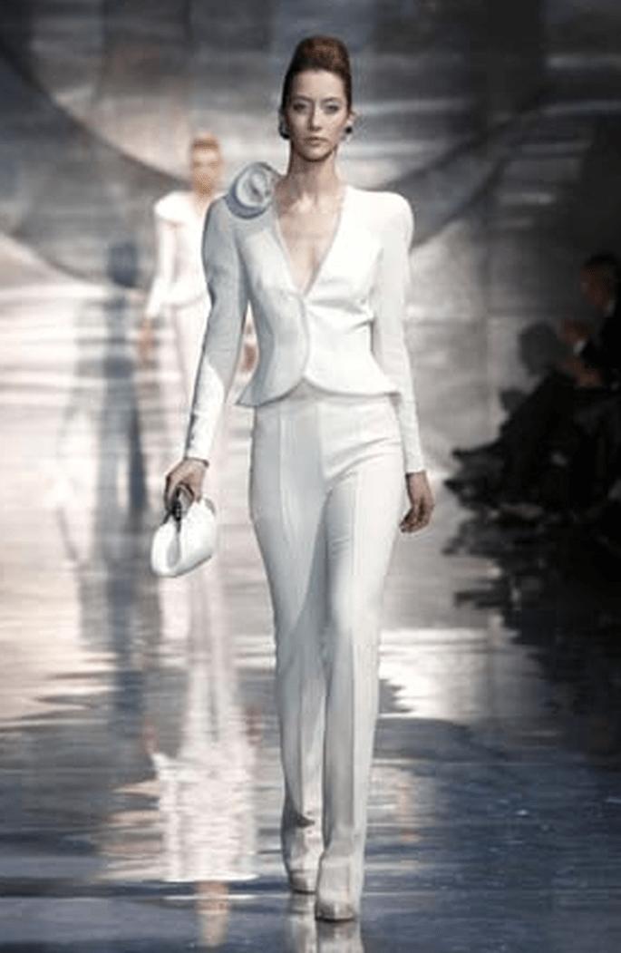 La sposa in pantaloni : Giorgio Armani