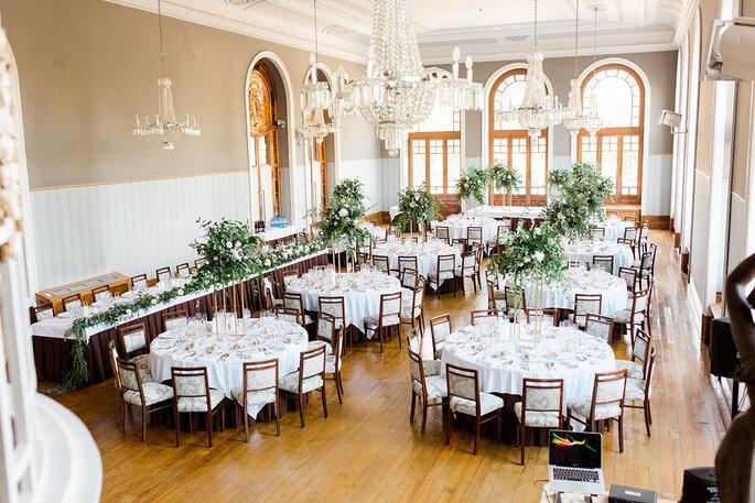 salão de festas casamento com decoração requinte