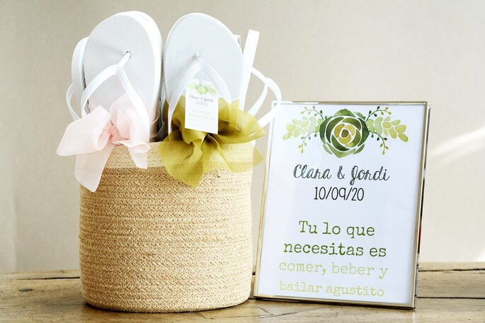 chanclas para invitados boda