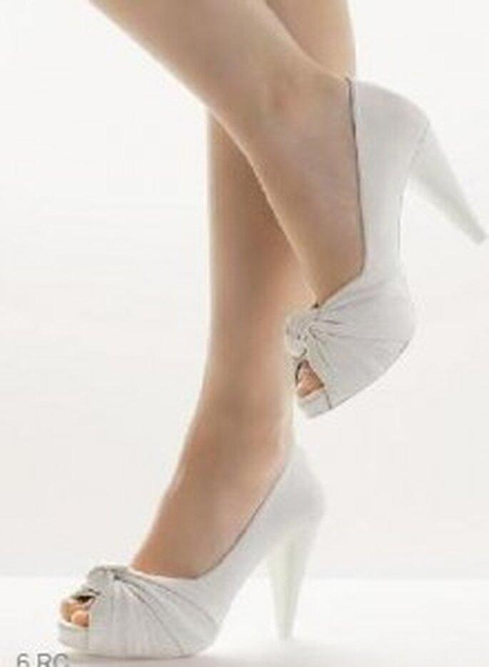 Zapato de novia Rosa Clará con pliegue delantero