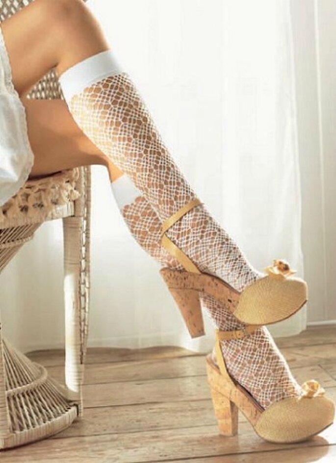 Calzas de ganchillo perfectas para novia - Calzedonia