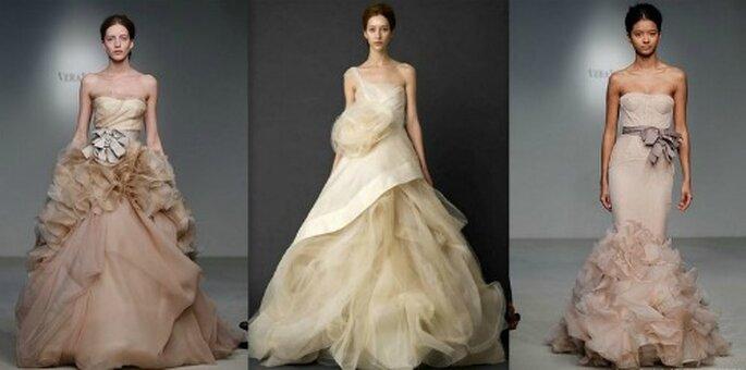 Il color cipria è uno dei più amati da Vera Wang. Bridal Collection 2012