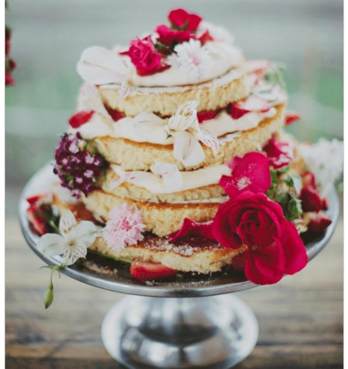 El naked cake, la tendencia más deliciosa en pasteles de boda - Foto Les Loups