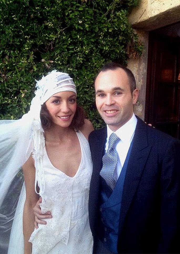 Andrés Iniesta y Anna Ortiz se han casado este fin de semana en Tarragona. Foto: Twitter