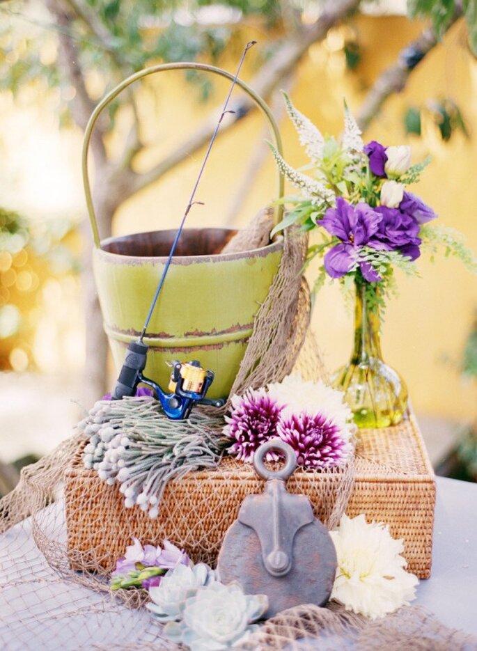 Detalles en color violeta para la decoración de tu boda - Foto Brandon David Photographers
