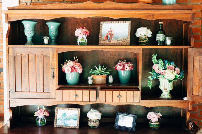 Decoração e flores: Espaço Apoema | Foto: Samuel Campos Fotografia