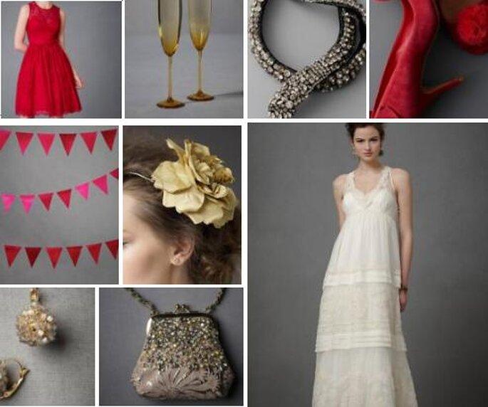 Decoraciones para boda. Foto de BHLDN.