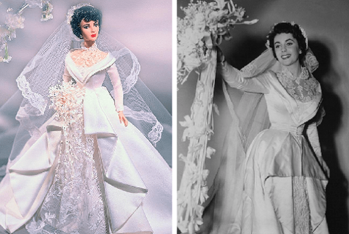 Barbie de Elisabeth Taylor vestida como en la película 'Father of the Bride'. Foto: Barbie Collector