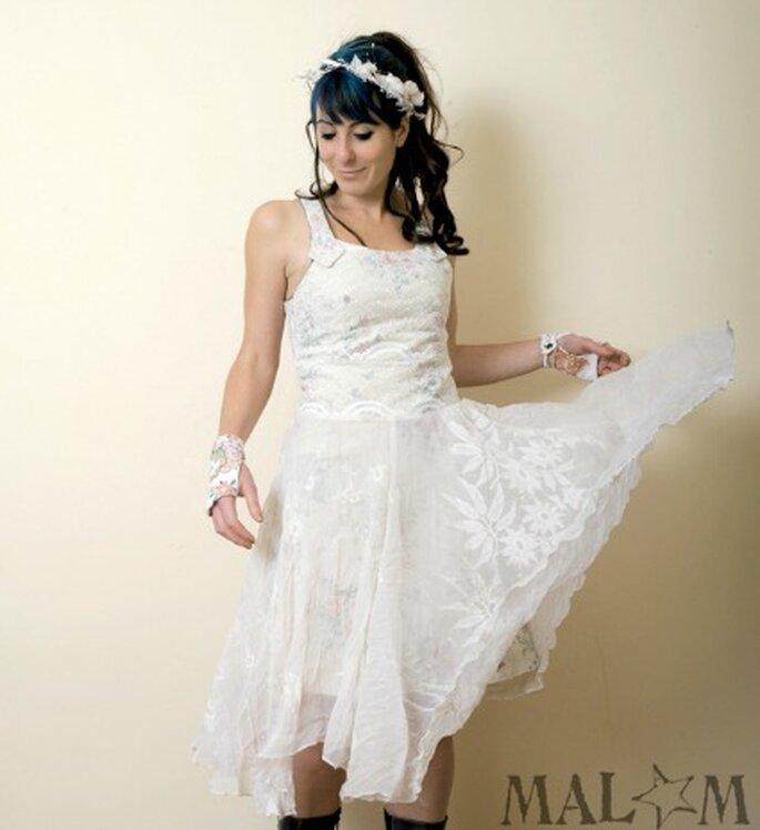 Robe de mariée Cendrillon blanche - Malam