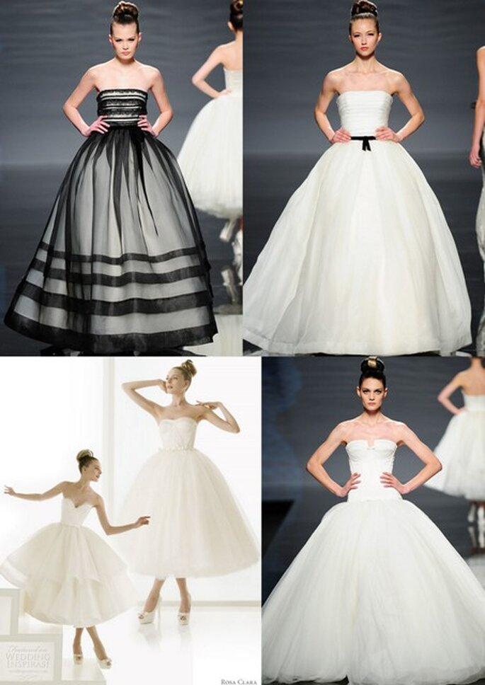 Vestidos de noiva com tule da Rosa Clará fotos: divulgação