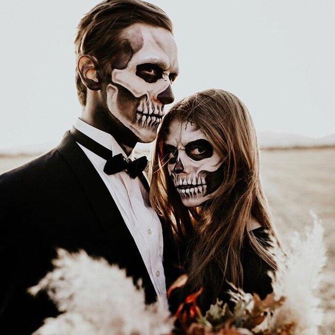 Pareja sesión fotos halloween