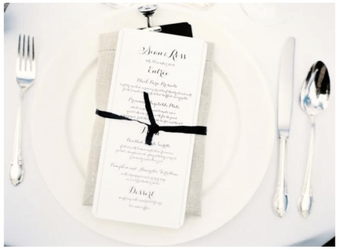 Montajes de mesa en colores blanco y negro - Foto Jen Huang